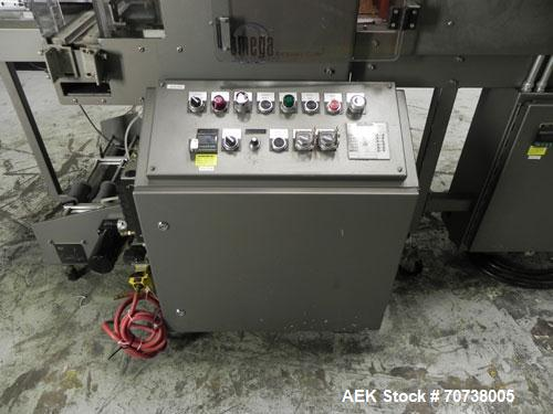 Used- Omega Model SL18 Shrink Bundling System with Integrated Shrink Tunnel