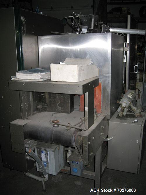 Used- Omega Design TSB-SL18 Shrink Bundler capable of speeds from 120 to 150 BPM depending on container and pattern. Max con...