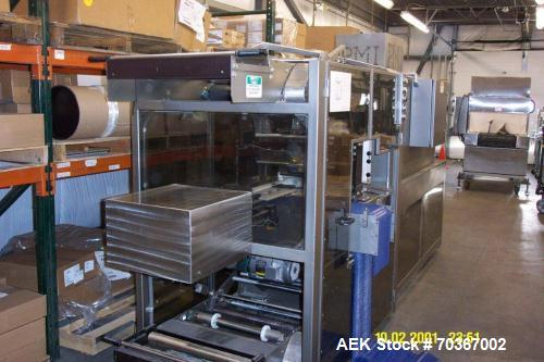 """Used-PMI Model GR-20 Multi-Pack Shrink Bundler, 20"""" seal bar, 9' long right angle infeed, dual upper and lower film web crad..."""