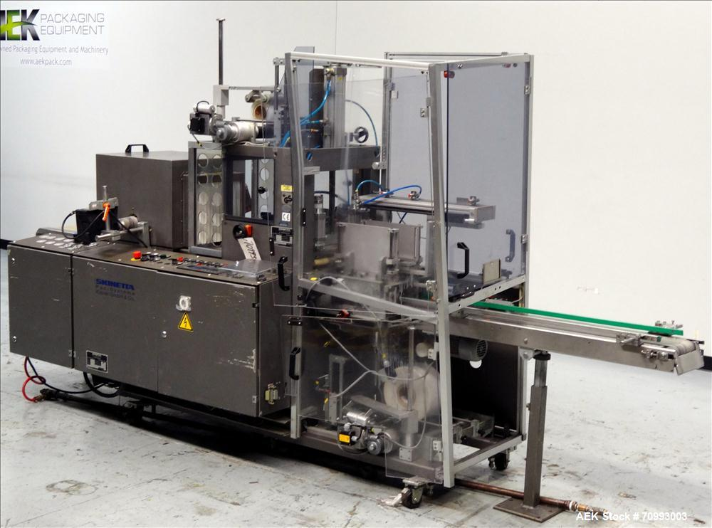 Used-Skinetta (Christ Packaging) Model ASK300 Automatic single lane stretch/shrink film bundler. Capable of speeds up to 32 ...
