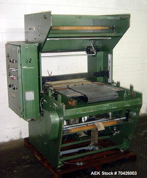 """Used-Weldotron Model 1209 Automatic Inline Sleeve Wrapper with 30"""" sealing bar and set for AC, 3 phase, 60 cycle, 460 volt c..."""