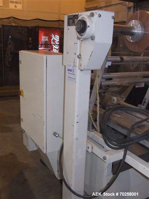 """Used-Ameripak Horizontal Shrink Wrapper, Model 140S.16"""" Long lugged infeed set on 12"""" centers, 10"""" wide cross seal jaws - 1 ..."""