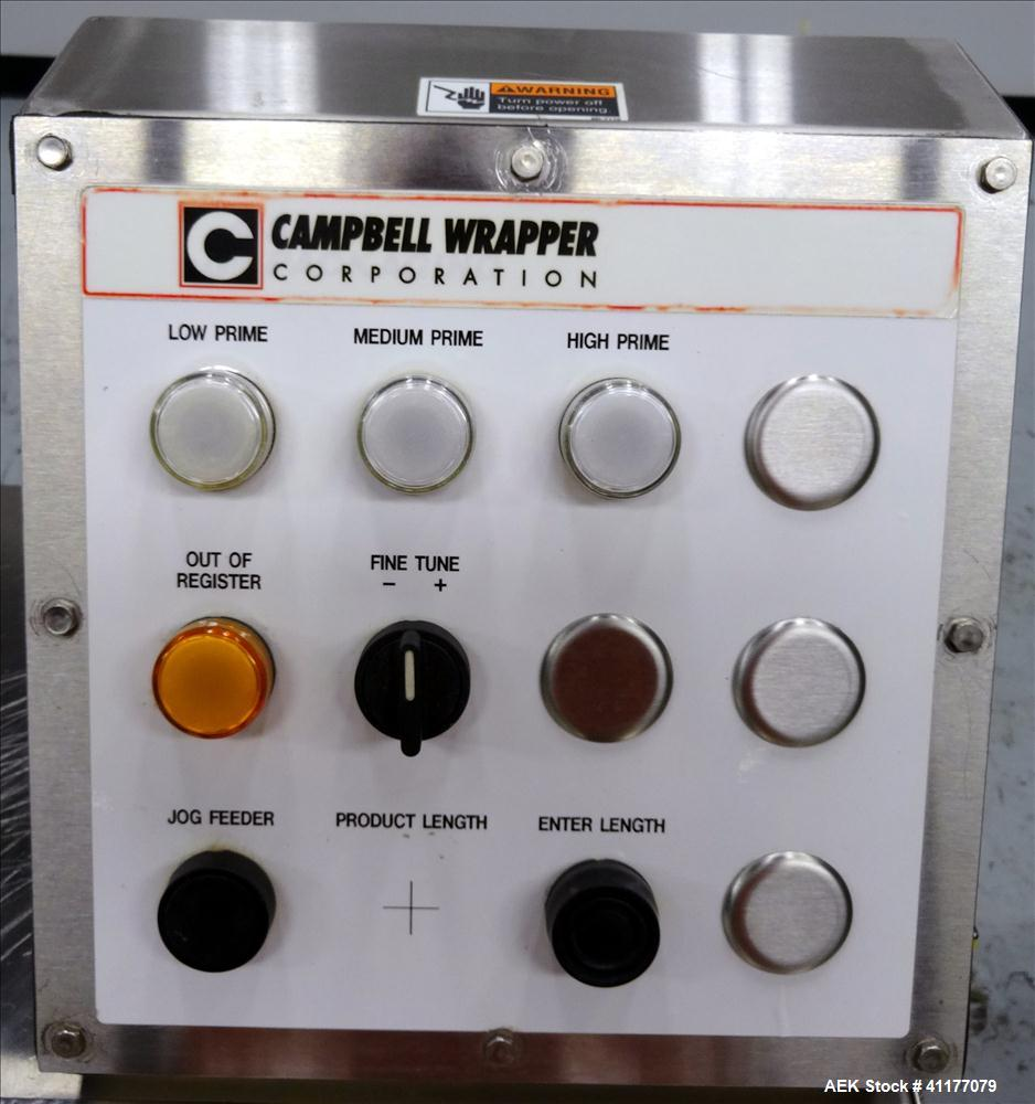 Used- Stainless Steel Campbell Wrapping Corp. Model WTS-24 RH Sanitary Shrink Wrapper