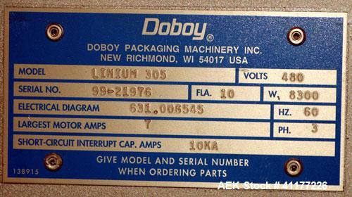 Used- Doboy Linium 305 SK Horizontal Shrink Wrapper, Model Linium 305 SK