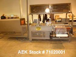 Used-APM Model MS1-18 Side Seal Shrink Wrap System with lugged conveyor and MT-1