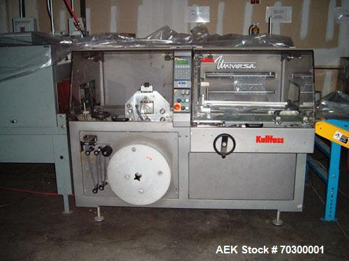 Used-Used: Kallfass Universa 400 ST Fully Automatic Horizontal Side Seal Shrink Wrapper capable of speeds up to 85 cycles pe...