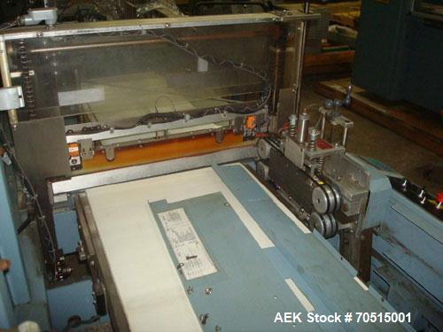 Used-Shanklin Automatic Side Seal Shrink Wrapper, Model CF-1, carbon steel.  Fully automatic operation.  Automatic package l...
