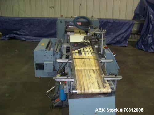 """Used- Shanklin F1 Shrink Wrapper. Up to 50 pkgs/min and 60 linear feet. Min package size: 6"""" long x 2"""" wide x 1/8"""" high, max..."""