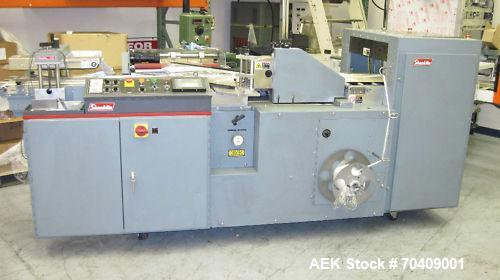 Used-Shanklin Shrink Wrapper, Model HS-1. Automatic harmonic infeed, ideal for cartons, dual wire side seal and wire end sea...