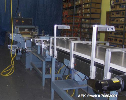 Used-Shanklin HS1 High Speed Horizontal Side Seal Shrink Wrapper.  Capable of speeds up to 100 packages per minute or 120 li...