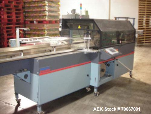 Used-Shanklin Omni G Horizontal Side Seal Shrink Wrapper capable of speeds up to 80 packages per minute. Package size range:...