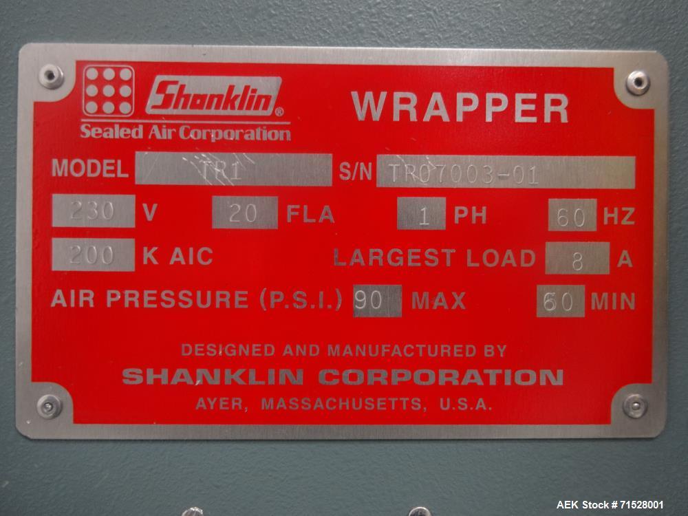 Used- Shanklin Triumph Horizontal Side Seal Shrink Wrapper, Model TR1.