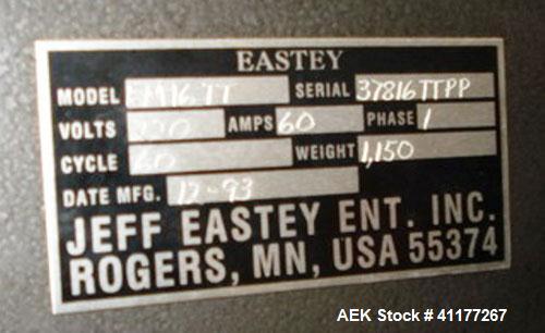 Used- Eastey Semi Automatic L-Bar Shrink Sealer, Model EM1622T