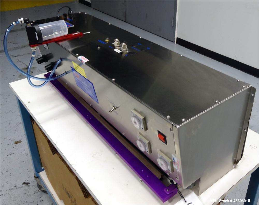"Unused- Aline E.L.V.I.S-30 Entry Level Vacuum Impulse Sealer. Has a 30"" long x .5"" wide seal bar. Has foot pedal operation, ..."