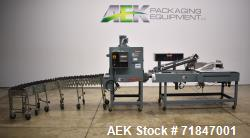 Used- Shanklin Shrink Packager Model S24B with T6 Tunnel. Semi automatic inline L-Bar sealer rated from 1 to 20 packages per...