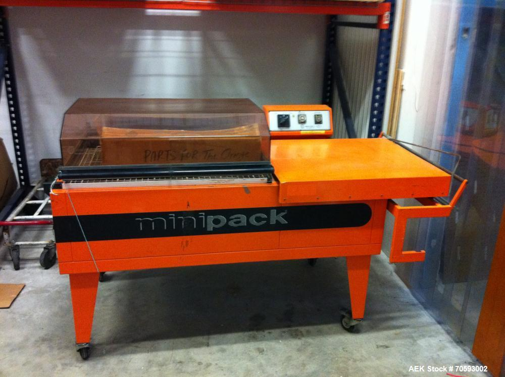 "Used-MiniPack FM77 Digit Shrink Wrap Machine. Max seal length 34"", max seal width 24"", max seal height 12"", max speed up to ..."