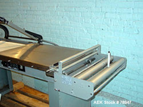 "Used- Weldotron Semi-Auto L Bar Sealer, Model 6412. Approximate film width 25"" max. Seal bar dimensions: 19"" vertical, 27"" h..."