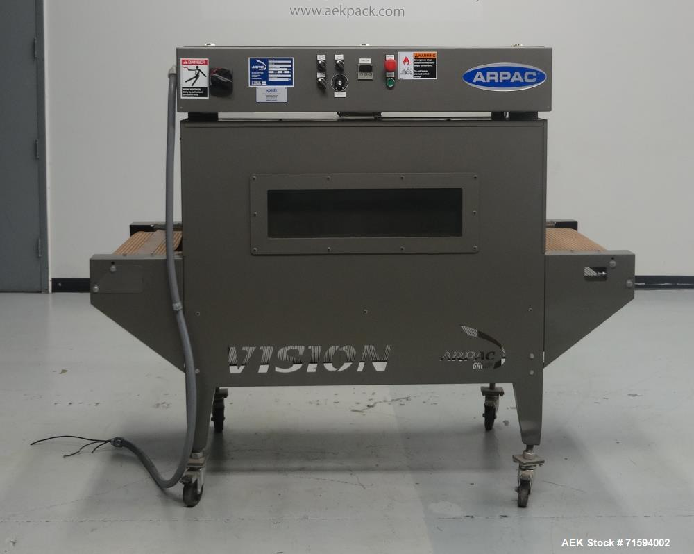 Used- Arpac Model VT122248 Vision Series Shrink Tunnel