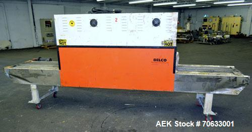 Used- Carbon Steel Belco Packaging Systems High Speed Re-Circulating Air Shrink Tunnel, Model ST2210HS