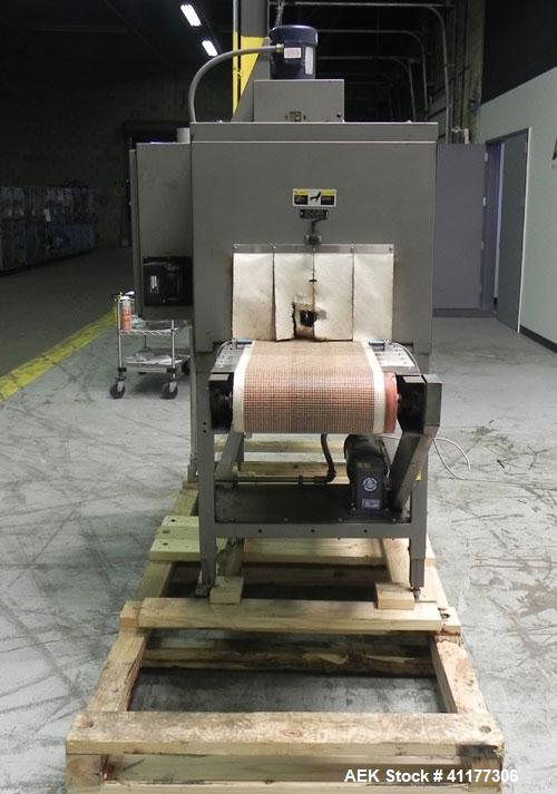 "Used- Doboy Model SK-200 High Speed Shrink Tunnel. Tunnel passage11"" (tall) X 18"" (wide) x 60"" (long). Has 15"" (wide) x 84"" ..."