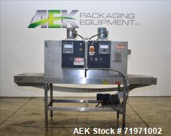 Used-Shanklin Model T-62SS Shrink Tunnel has High Speed dual chamber shrink tunnel of stainless steel construction. Designed...