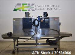 Used-Shanklin Model T-72SS Dual Chamber Stainless Steel Shrink Tunnel. Machine is capable of speeds from 25 to 150 linear fe...