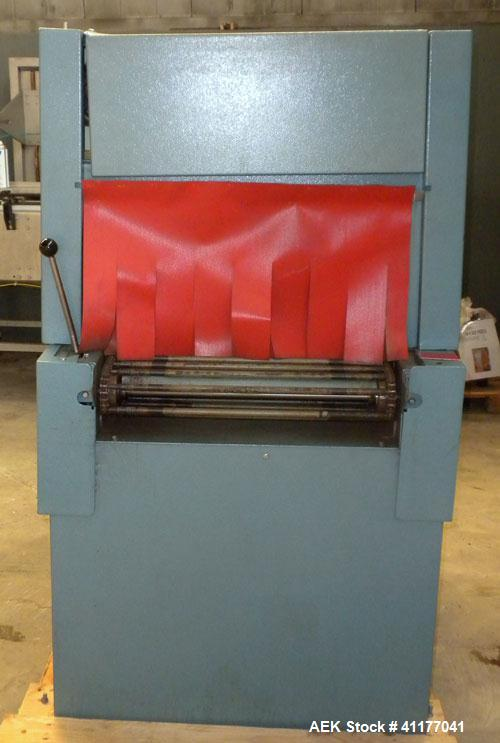 "Used- Rennco Shrink Tunnel, Model 1022, . Tunnel measures 22"" wide x 10 3/4"" tall x 36"" long. Belt measures approximately 22..."