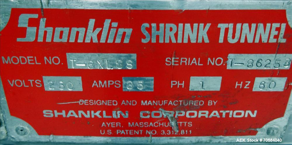 Used- Shanklin Model T-6XLSS Shrink Tunnel