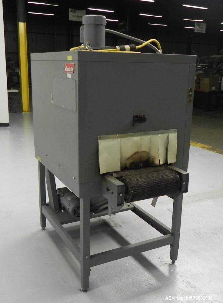 Used- Shanklin Model T-7XL Single Zone Heat Shrink Tunnel. Tunnel conveyor is rated at speeds from 15 to 120 ft per minute. ...