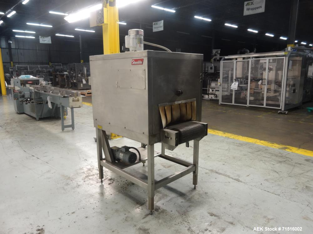 Used- Shanklin Model T-7XLSS Stainless Steel Shrink Tunnel
