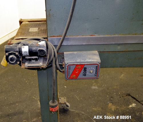 """Used- Weldotron Console Shrink Tunnel, Model 7121, Carbon Steel. Approximate 46"""" long shrink area. Infeed/discharge opening ..."""