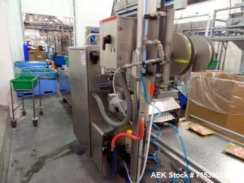 Used- Multivac Darfresh Skin Packaging System, Model R175 CD. 220 volt, 3-phase, 60 Hz, 82 amp, 14.5 kW. 420mm bottom web  s...