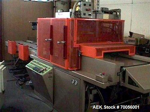 """Used-ZED Industries Automatic Skin and Trim Skin Packer, model 5911, 18"""" x 21"""". Features card infeed pusher with dual templa..."""