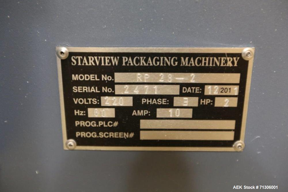 Used- Starview Model SP-2436 Skin Packaging Machine with Starview Model PR28-2 Roller Die Cutter. Low use like new machinery...