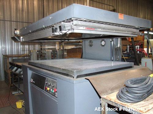 Used-Used: Ampak MP3648A skin packager. Has 36 x 48 seal area.