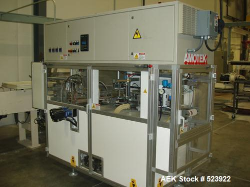 Used-Amotek X1 automatic horizontal form, fill and seal. Purchased new in 2005. Approximately 1500 hours of production on ma...