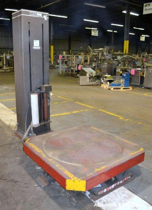 "Used- InfraPak Hawk HPS Strecth Wrapper, Carbon Steel. 50"" x 50"" table. 1/60/120 volt."