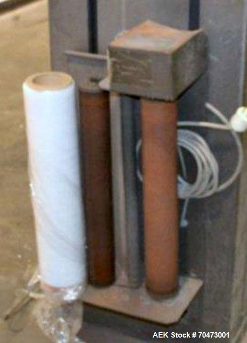 "Used- InfraPak Hawk HPS Strecth Wrapper, Carbon Steel. 50"" x 50"" table. 1/60/120 volt."