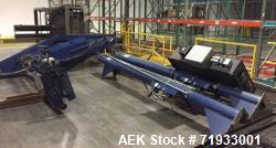 Used- Lantech, Model 2500 Automatic Stretch Wrapper. Built 2005. Has 5' infeed conveyor, 7' discharge conveyor, 15' gravity ...