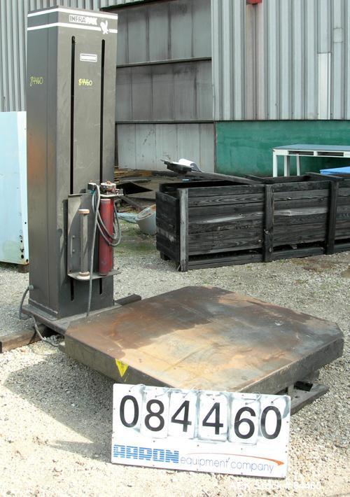 "Used- Infra-Pak Platform Stretch Wrapper, Model HKHP. Maximum load size 50"" wide x 50"" long x 80"" tall, 4000 pounds. Average..."