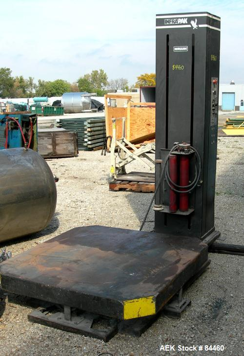 "Used- Infra-Pak Platform Stretch Wrapper, Model HKHP. Maximum load size 50"" wide x 50"" long x 80"" tall, 4000 pounds. Average..."