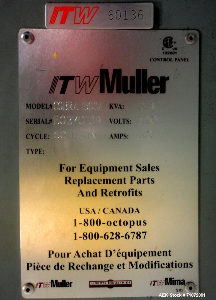 Used-ITW-Muller Cobra Model 1525A Stretch Wrapper