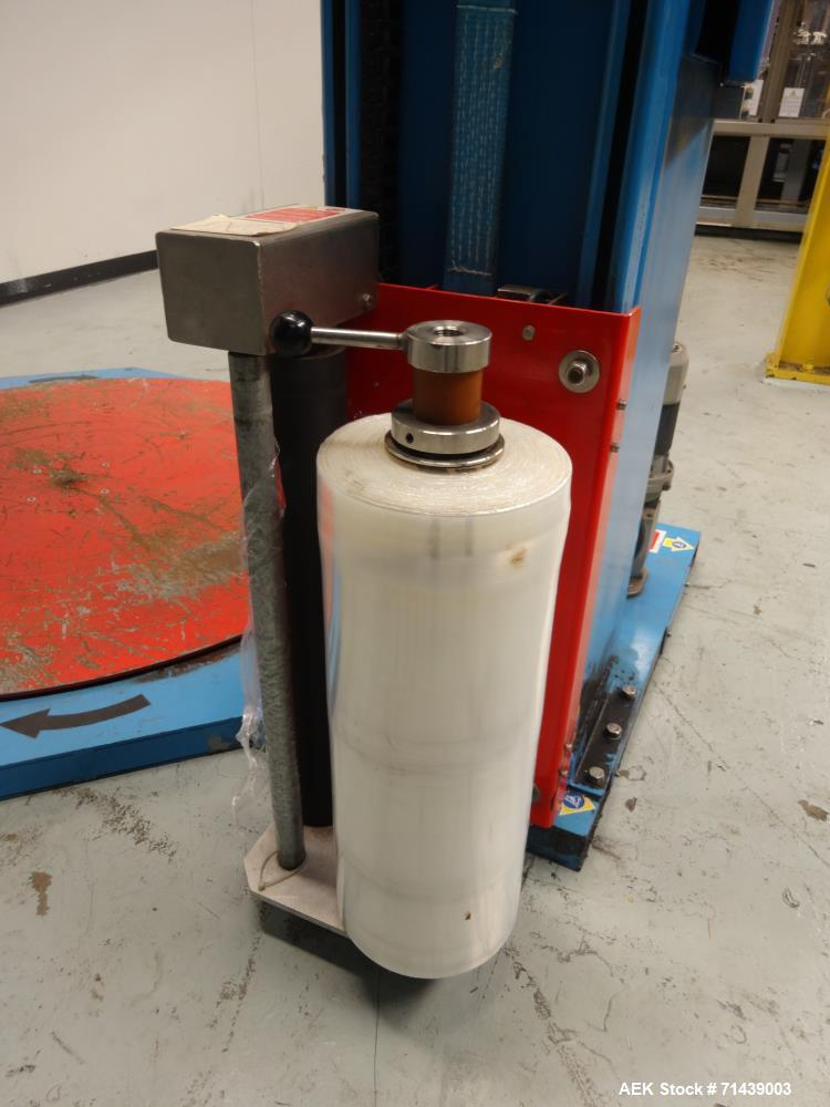 Used- Sympac Model E1500-SA Semi Automatic Stretch Wrapper
