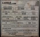 Used- Lantech Q300 Semi-Automatic Dual truntable stretch wrapper. Low Profile unit capable of speeds from 25-35 loads per ho...
