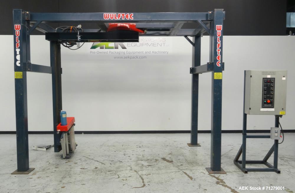 Used- Wulftec Model WRT-200 International Semi-Automatic Rotary Arm Stretch Wrap