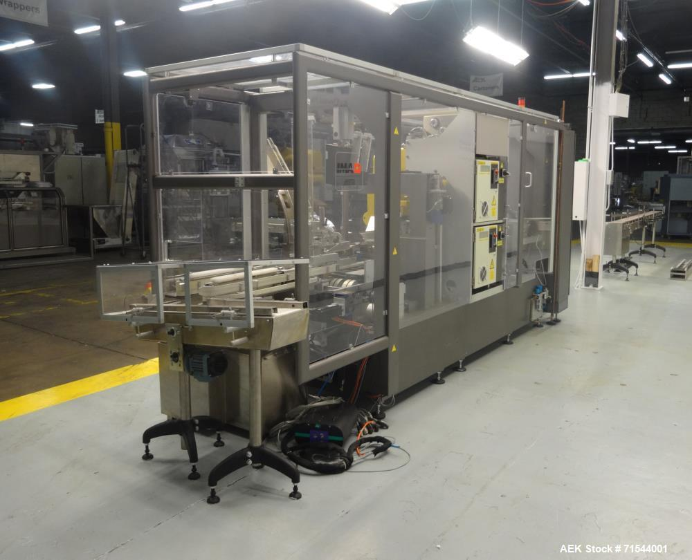 Used- IMA (BFB) Model FR100 Hooded Style Tray Former and Bottle Loader