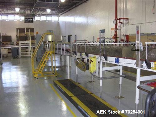 Used- Kisters Kayat Model TSP 030 Automatic Tray Former, Packer and Shrink Overwrapper. Machine is capable of speeds of up t...