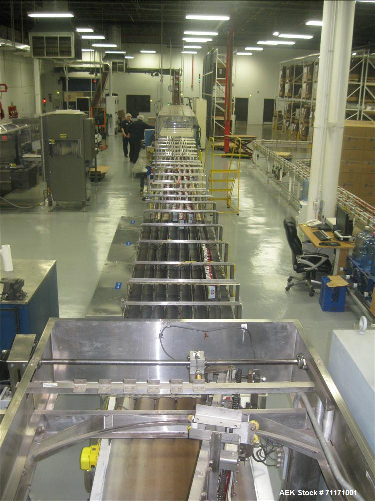 Used- Kisters Kayat TSP 030 Automatic Tray Former, Packer and Shrink Bundler