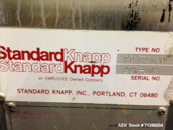 Used- Standard Knapp Continuum Tray Packer, Model: Continuum,