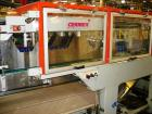 Used-CERMEX Tray/Pad Shrinkwrapper, Model TSP70. Integrated tray/shrink machine capable of applying registered film at speed...